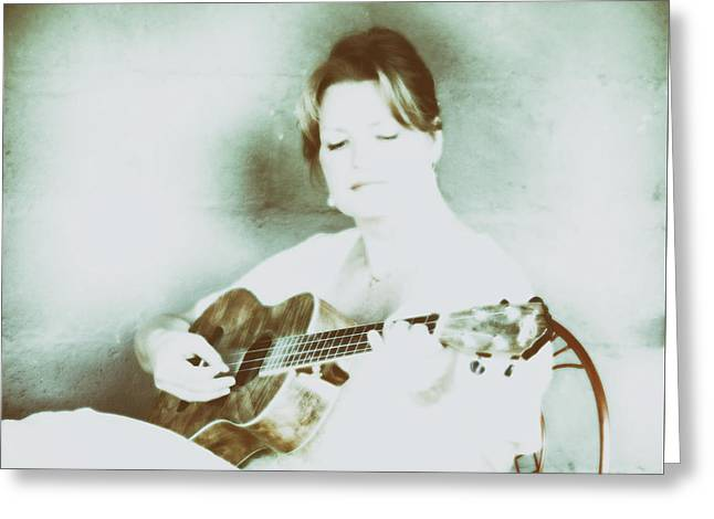 The Sound Of A Portrait  Greeting Card by Steven Digman