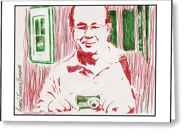 Portrait  Lauri  Greeting Card by Gerusa Bernardes