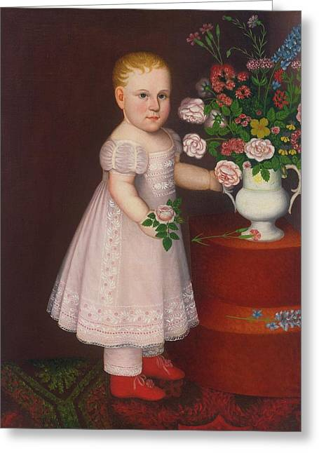 Portrait Of A Blond Greeting Card