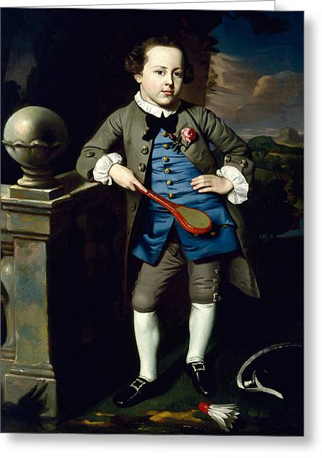 Portrait Of A Boy Greeting Card by John Singleton Copley