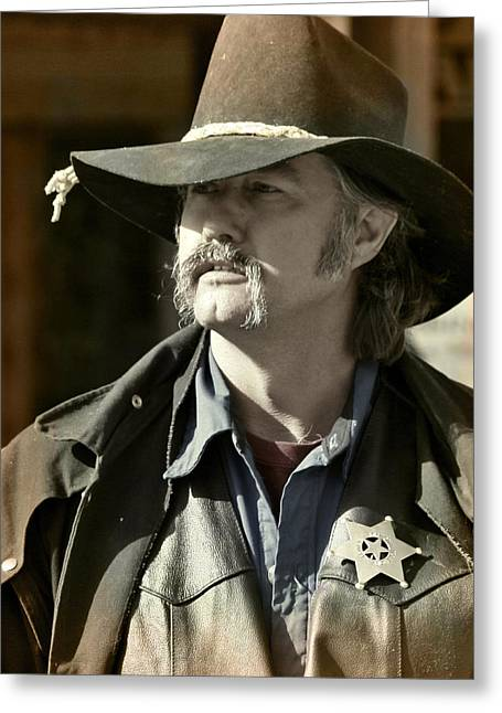 Portrait Of A Bygone Time Sheriff Greeting Card