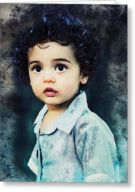 Portrait Of A Child Greeting Card