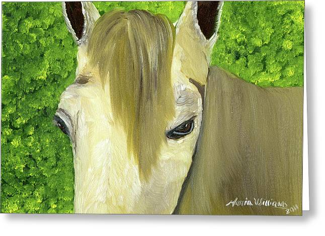 Portrait Of A Curious Horse Greeting Card by Maria Williams