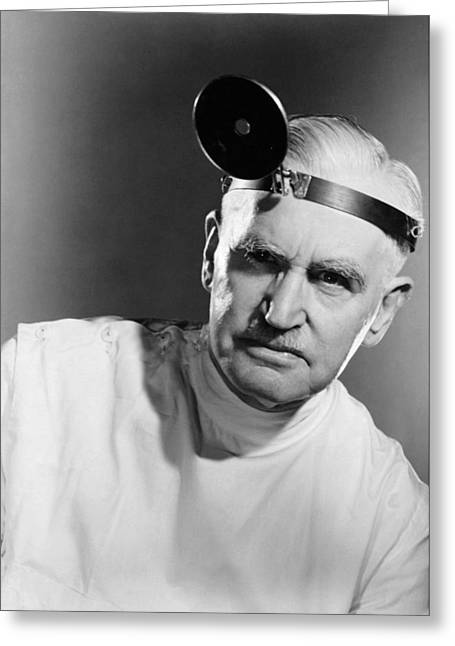 Portrait Of A Doctor Greeting Card by Underwood Archives