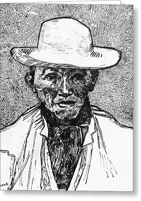Portrait Of A Farmer Greeting Card