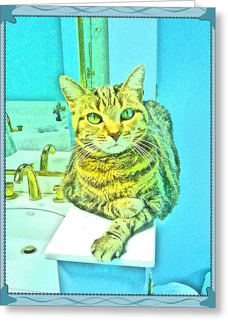 Portrait Of A Feline Greeting Card