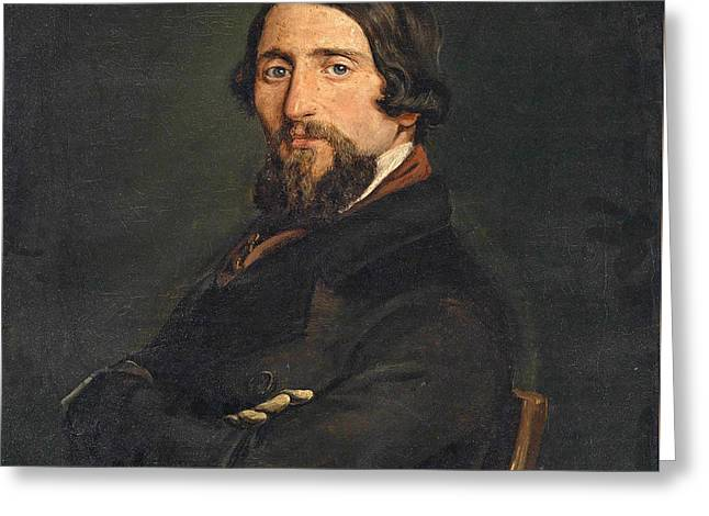 Portrait Of A Gentleman Greeting Card by Francesco Hayez