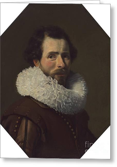 Portrait Of A Gentleman Wearing A Fancy Ruff Greeting Card