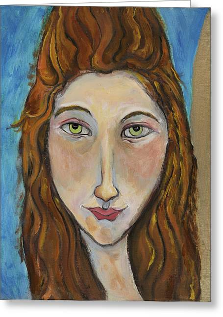 Portrait Of A Girl Greeting Card by Michelle Spiziri