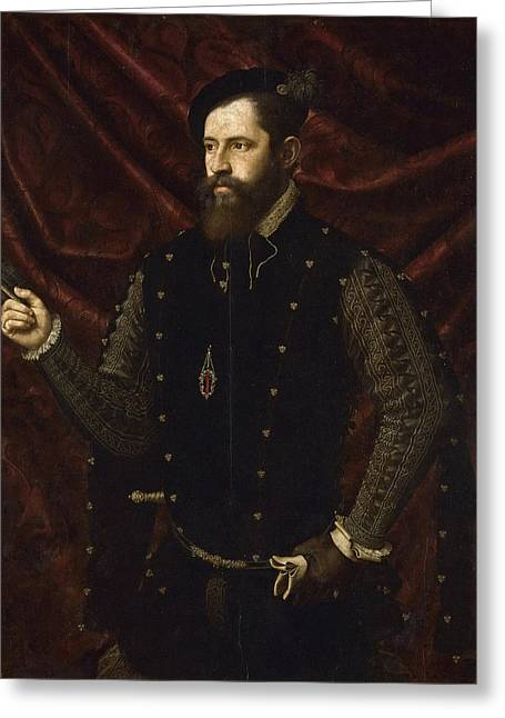 Portrait Of A Knight Of The Order Of Santiago Greeting Card by Juan de Juanes