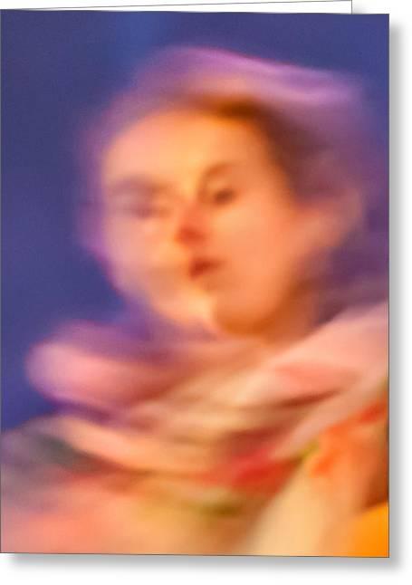 Portrait Of A Lady Greeting Card by Az Jackson