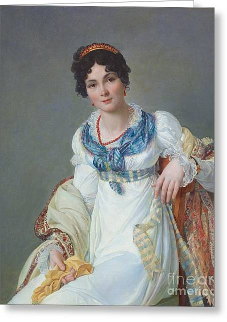 Portrait Of A Lady Greeting Card by MotionAge Designs