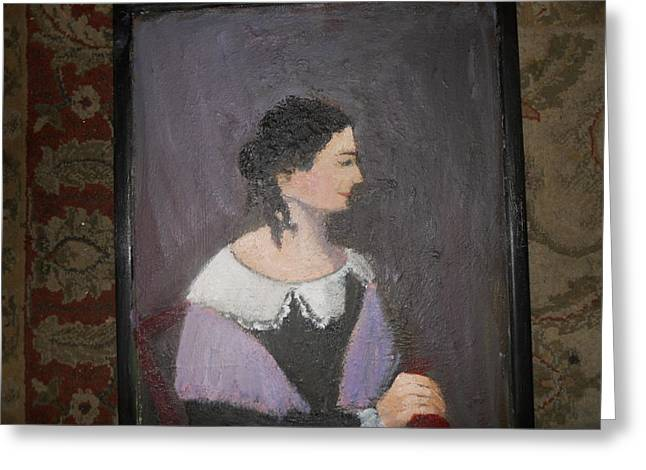 Portrait Of A Lady Greeting Card by Louise Gibler