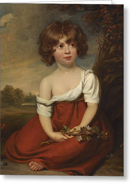 Portrait Of A Lady, Said To Be Elizabeth Brudenell-bruce Greeting Card