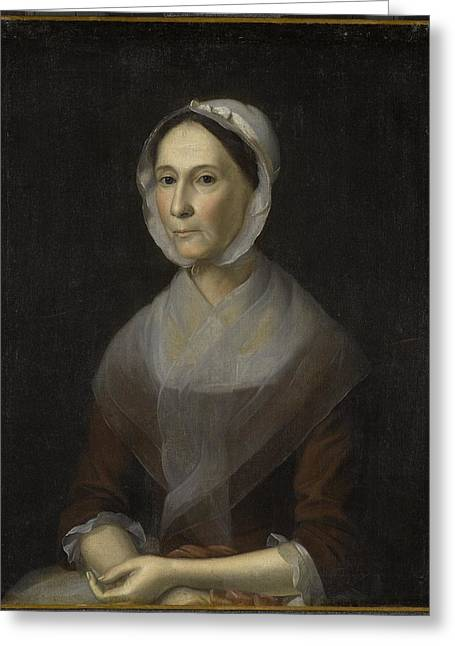Portrait Of A Lady Greeting Card by William Strachan