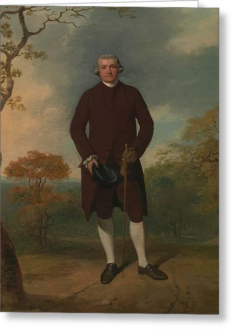 Portrait Of A Man, Called George Basil Woodd Greeting Card