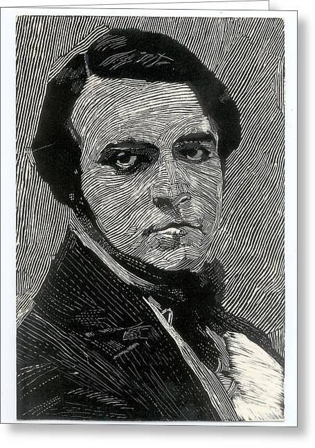 Portrait Of A Man Greeting Card by Robert Bissett