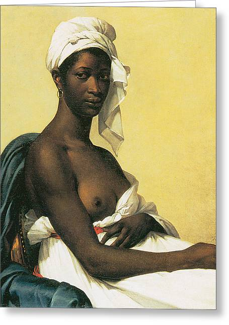 Portrait Of A Negress Greeting Card by Marie-Guillemine Benoist