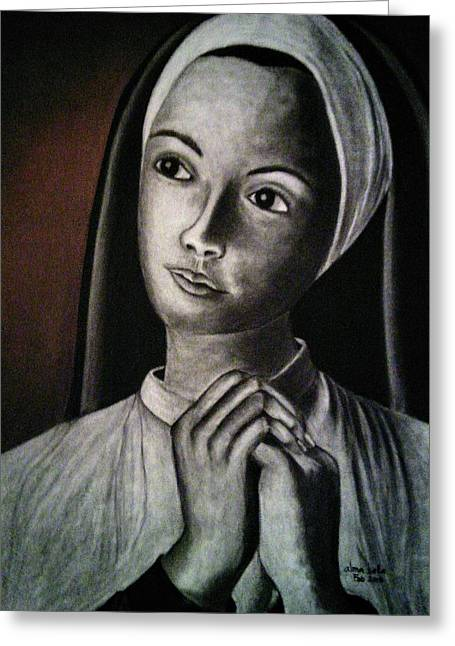 Portrait Of A Nun Greeting Card