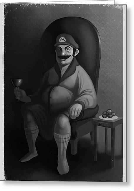 Portrait Of A Plumber Greeting Card