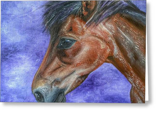 Portrait Of A Pony Greeting Card