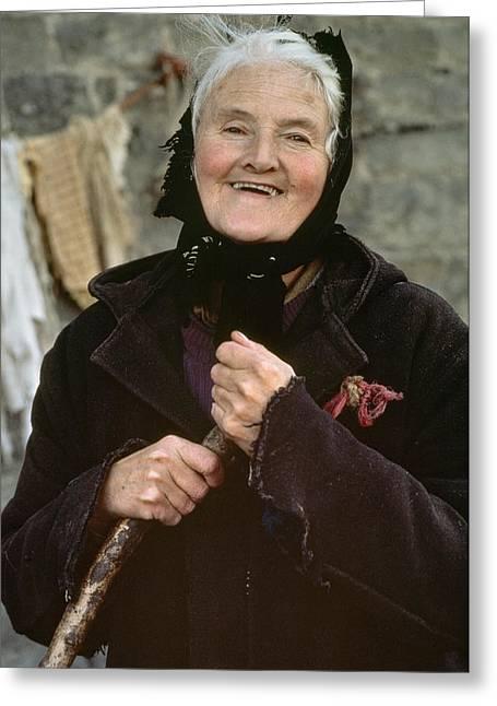 Senior Adult Greeting Cards - Portrait Of A Rural English Farmer Greeting Card by Annie Griffiths
