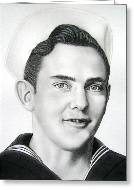 Portrait Of A Sailor Greeting Card by Nicole I Hamilton