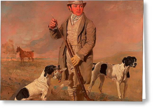 Portrait Of A Sportsman - Possibly Richard Prince Greeting Card