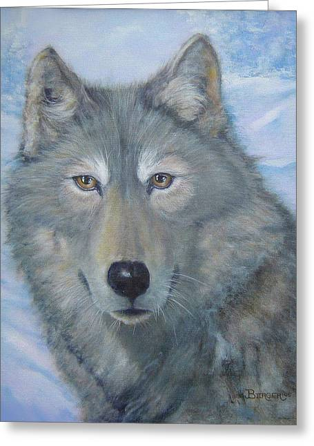 Portrait Of A Wolf Greeting Card