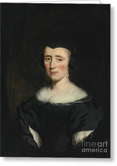 Portrait Of A Woman  Age Forty Greeting Card