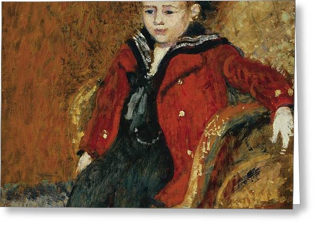 Portrait Of A Young Boy Greeting Card by Celestial Images