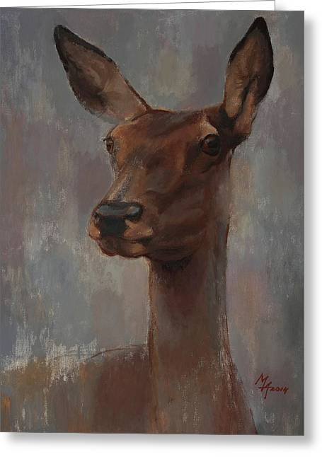 Portrait Of A Young Doe Greeting Card