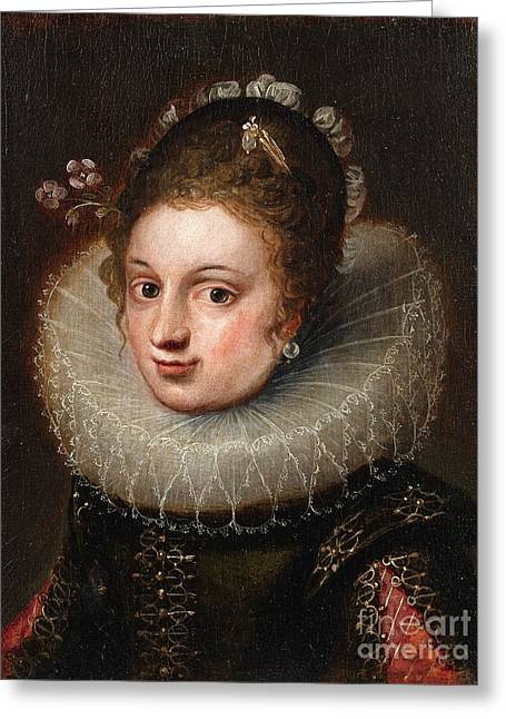 Portrait Of A Young Lady Greeting Card