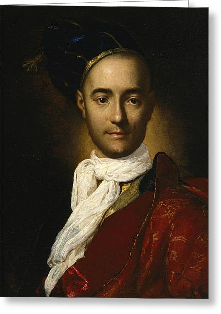Portrait Of A Young Nobleman Greeting Card by Fra Galgario