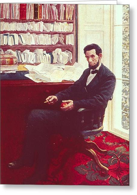 Portrait Of Abraham Lincoln Greeting Card by Howard Pyle