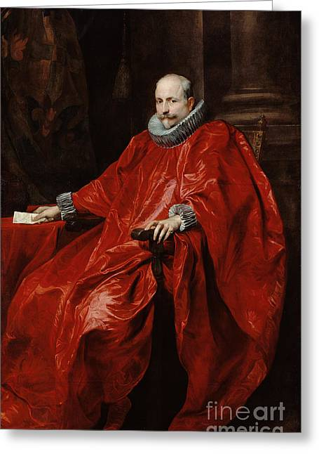 Portrait Of Agostino Pallavicini By Anthony Van Dyck Greeting Card by Esoterica Art Agency
