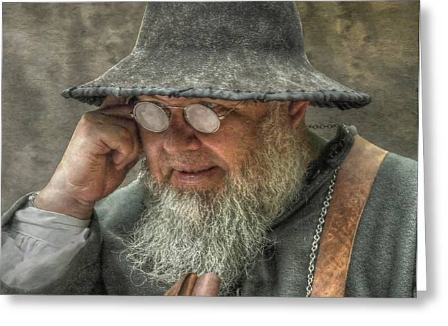 Portrait Of An Old Man Greeting Card by Randy Steele