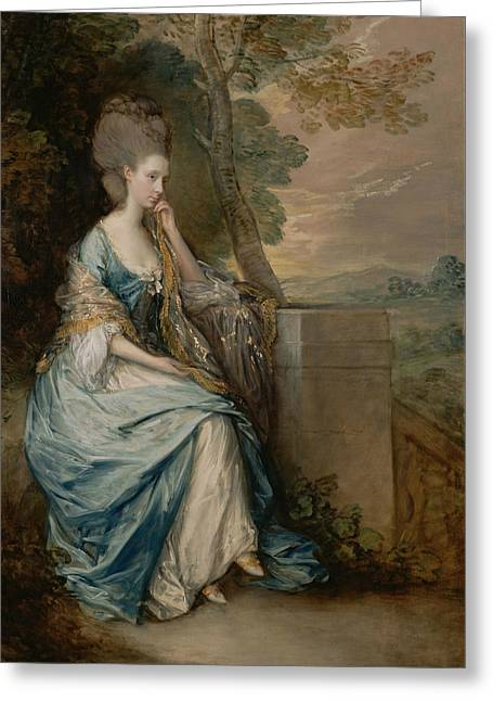 Portrait Of Anne Countess Of Chesterfield Greeting Card