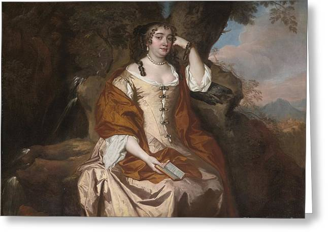 Portrait Of Anne Hyde Duchess Of York Greeting Card by Celestial Images