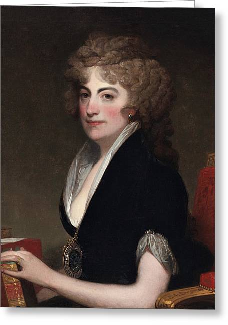 Portrait Of Anne Willing Bingham Greeting Card by Gilbert Stuart