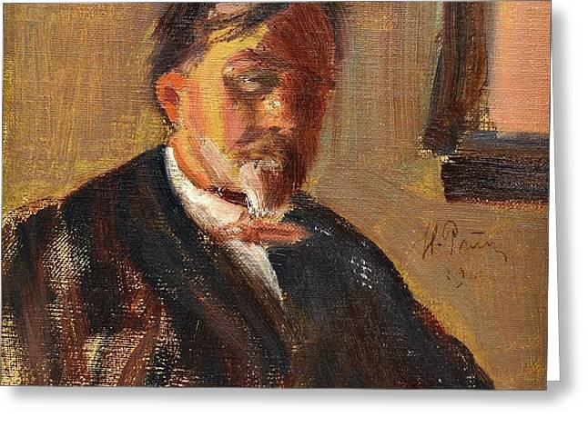 Portrait Of Boris Alexandrovich Lazarevsky Greeting Card