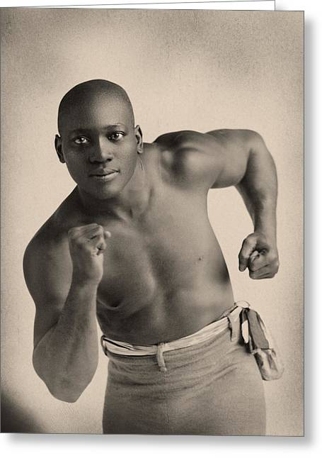 Portrait Of Boxer Jack Johnson Greeting Card by American School