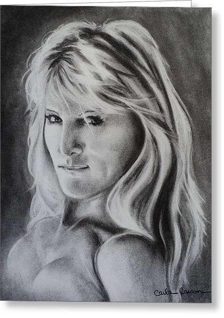 Portrait Of  Carla Greeting Card by Carla Carson