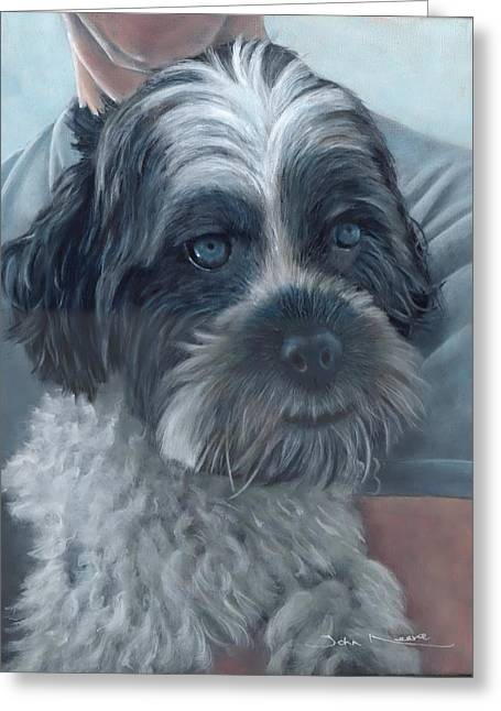 Portrait Of Charley Greeting Card