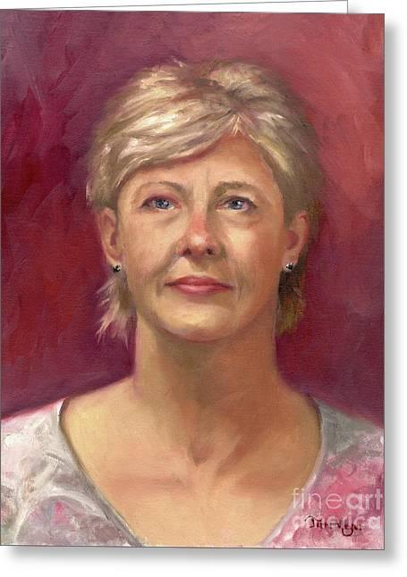 Portrait Of Cheryl Greeting Card by Terri  Meyer