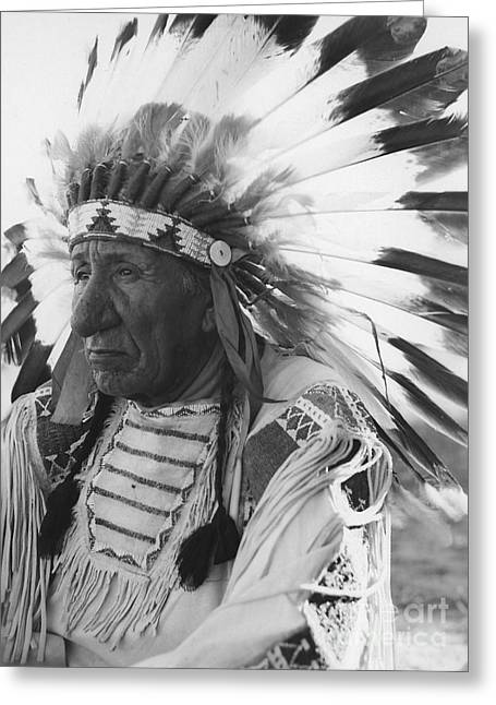 Portrait Of Chief Red Cloud Greeting Card by Stocktrek Images
