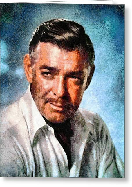 Portrait Of Clark Gable Greeting Card