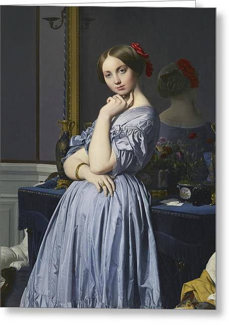 Portrait Of Comtesse D'haussonville Greeting Card by Jean-Auguste-Dominique Ingres
