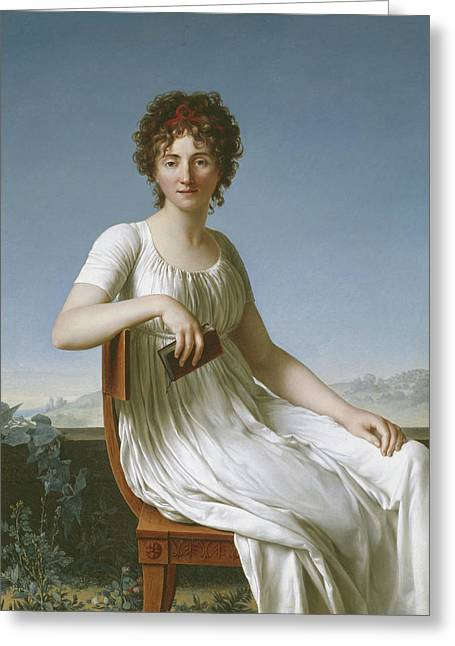 Portrait Of Constance Pipelet Greeting Card by Jean Baptiste Francois Desoria