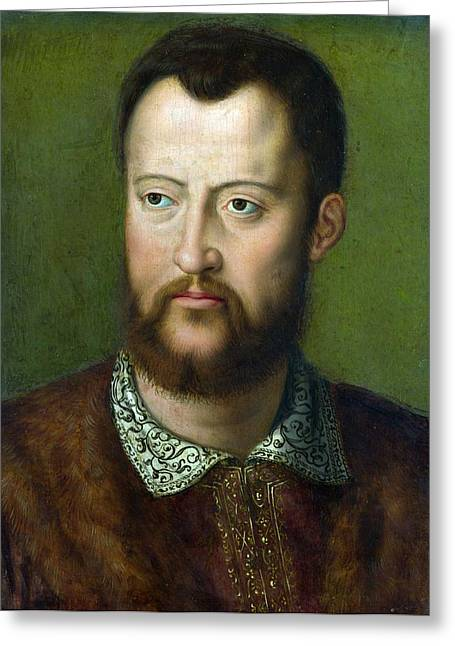 Portrait Of Cosimo I De' Medici Grand Duke Of Tuscany Greeting Card by Celestial Images